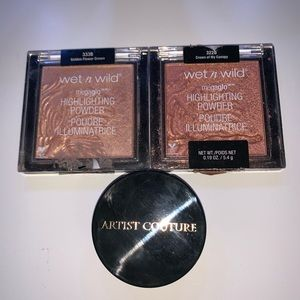 Artist couture & wet and wild highlighter bundle